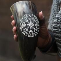 Viking drago beardbead argento