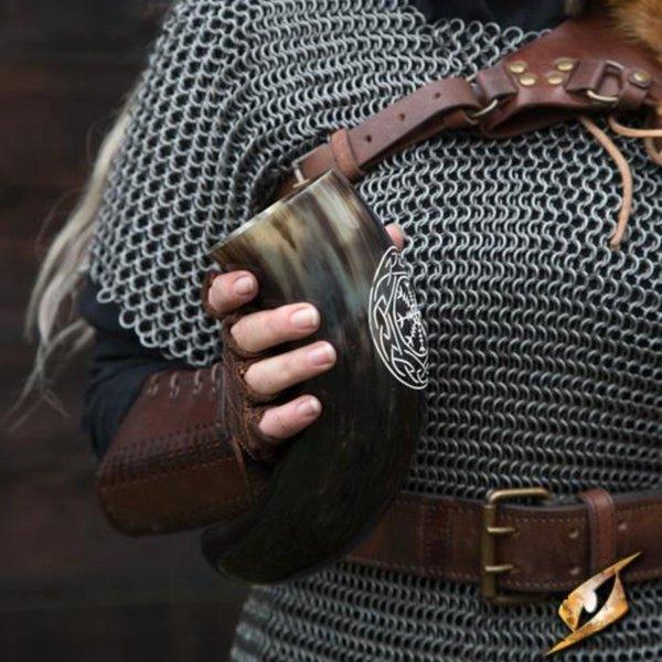 Epic Armoury Viking dricka horn Aegisjalmur, ljus