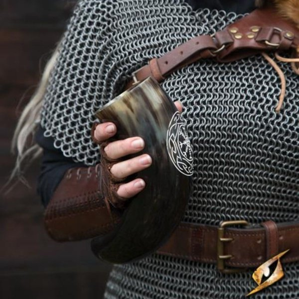 Epic Armoury Viking drikkehorn Aegisjalmur, lys