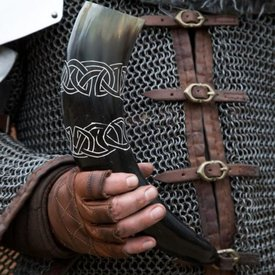 Epic Armoury Dricka horn Tara med Celtic knop, ljus