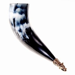 Viking drinking horn Fenris with wolf head