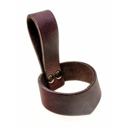 Leather drinking horn holder 0,1-0,2 L, brown
