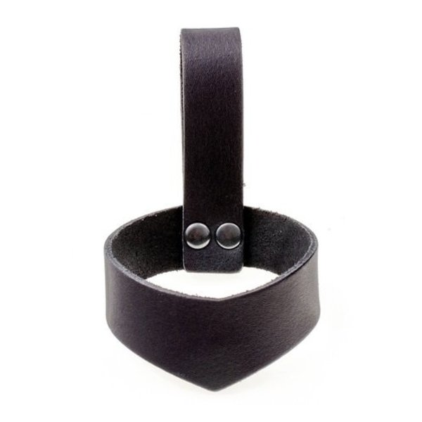 Leather drinking horn holder 0,7 L, black
