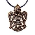 Vikingo hombre con alas enjoyadas de Uppåkra, bronce