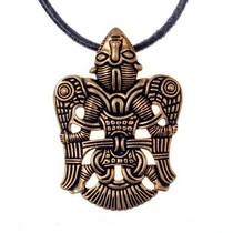 Germanic raven amulet, silvered