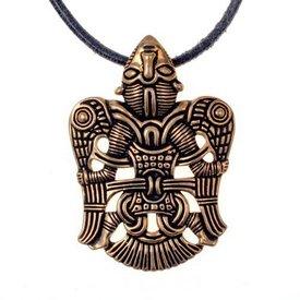 Viking juvelbesatte vingede mand Uppåkra, bronze