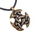 Celtico motivo gioielli trinità, ottone