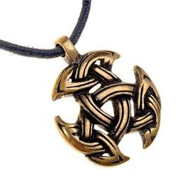 Celtic jewelry trinity motif, brass