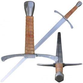 Fabri Armorum Espada de mano y media Hermann, negra, contundente lista para la batalla