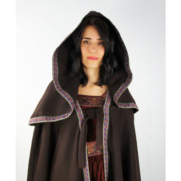 Manteau brodé Lyra, marron