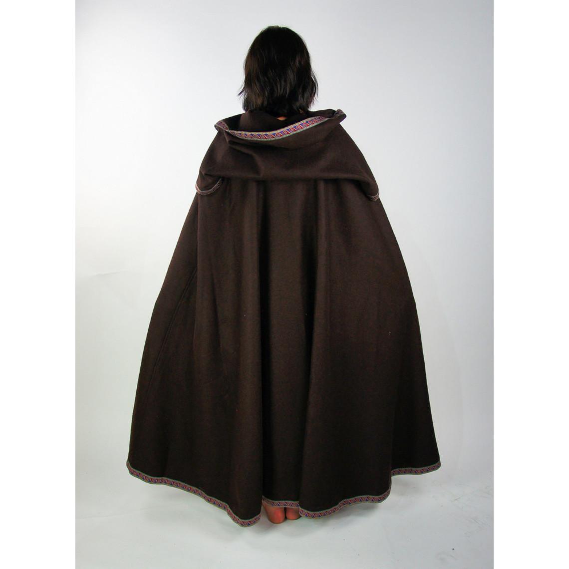 Leonardo Carbone Geborduurde mantel Lyra, bruin