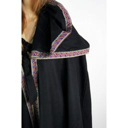Embroidered cloak Lyra, black