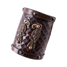 Deepeeka Leather bracelet Huginn & Muninn