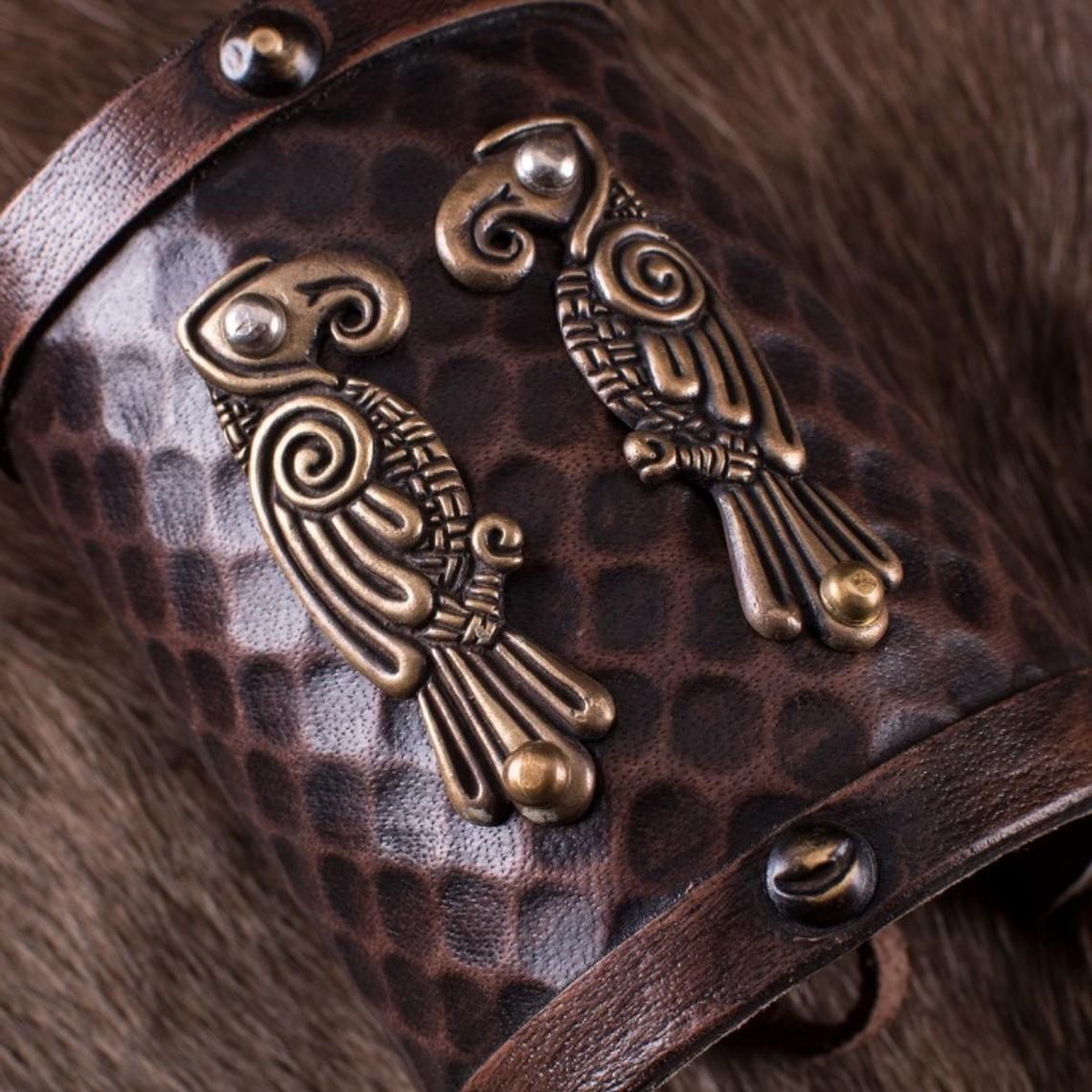 Deepeeka Leren armband Huginn & Muninn