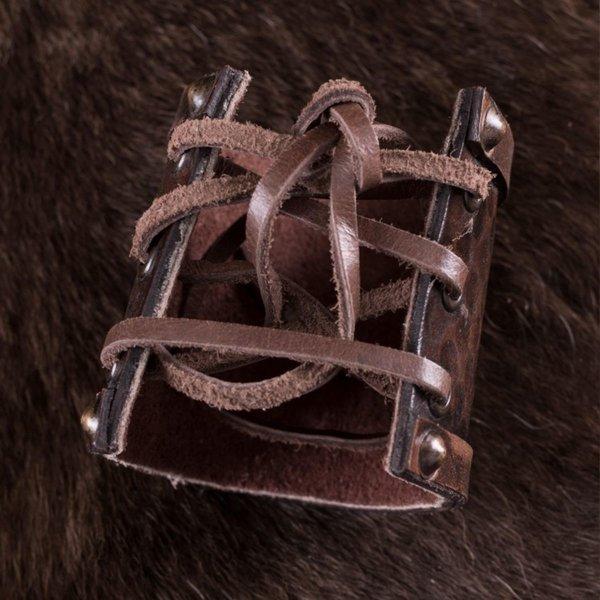 Deepeeka Pulsera de cuero de Viking con los dragones