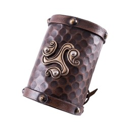 Keltische leren armband triquetra