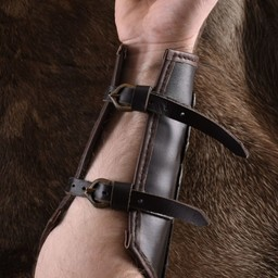Leather vambrace with metal strips Aerdwulf