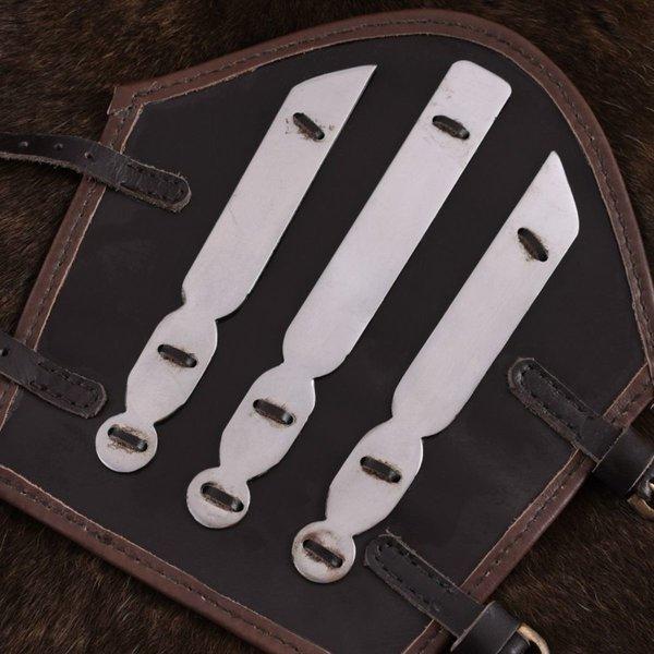 Ulfberth Læder vambrace med metal strips Aerdwulf