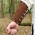 Deepeeka Suede armbeschermers Leofric, bruin