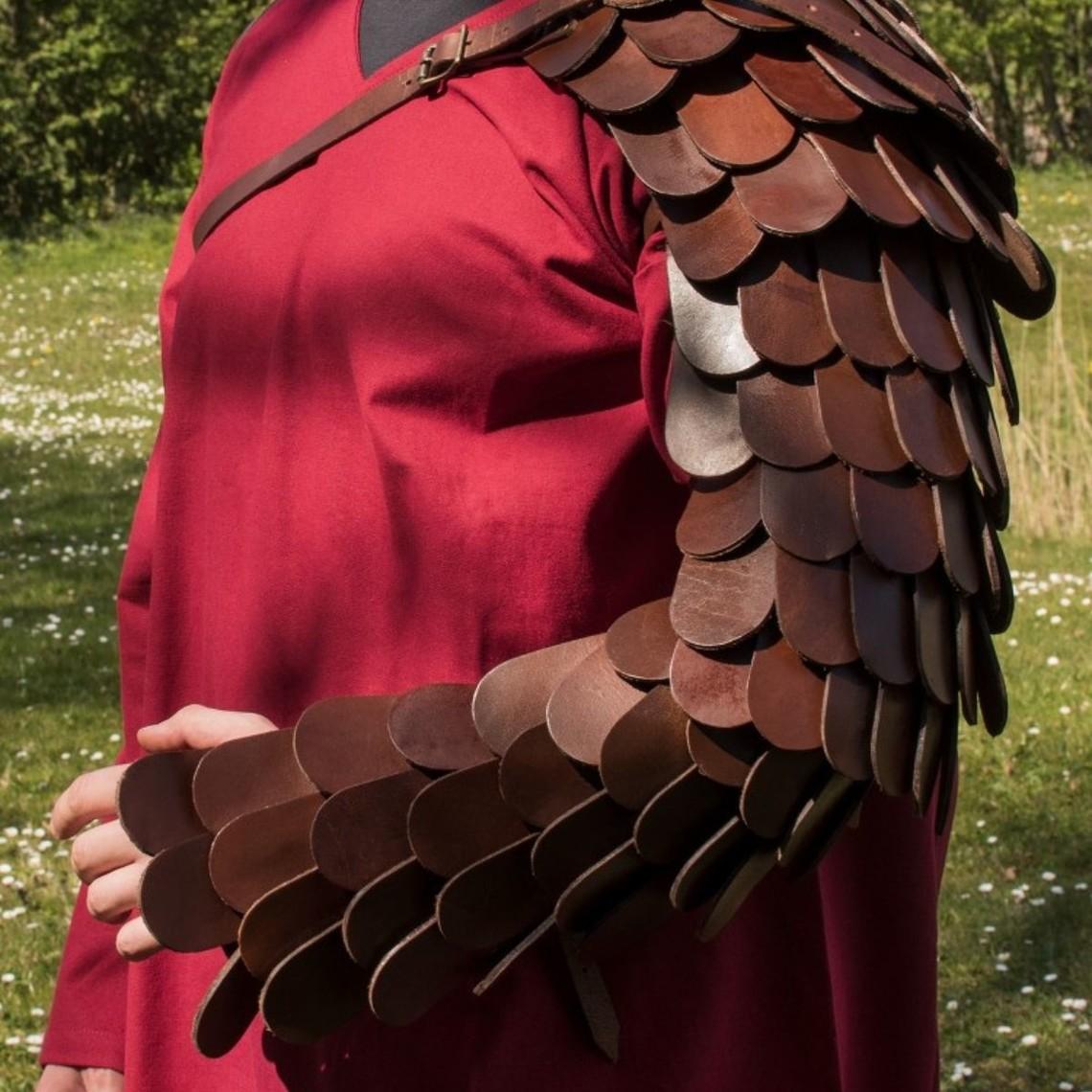 Deepeeka Leder skaliert manica / armguard Gladiator
