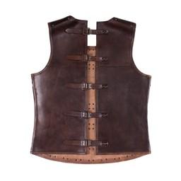 Medeltida brigandin av läder, brun