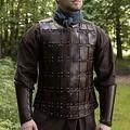 Deepeeka Leren middeleeuwse brigandine, bruin