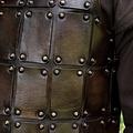 Deepeeka Mittelalterliche Brigantine aus Leder, braun