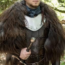 Leather medieval brigandine, brown