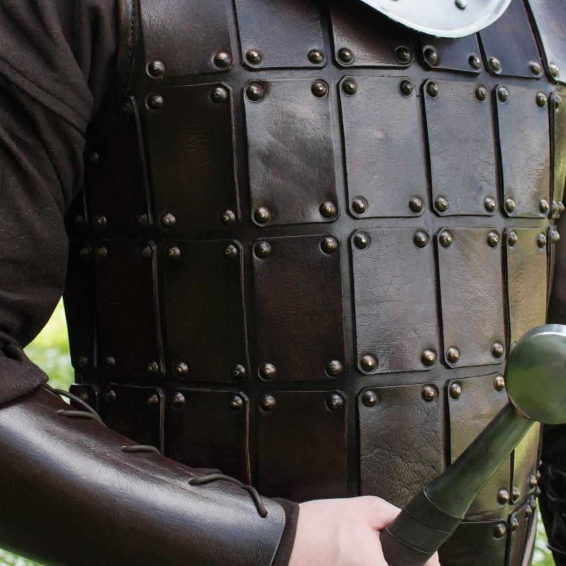 Deepeeka Skóra średniowieczna brygandynowa, brązowa
