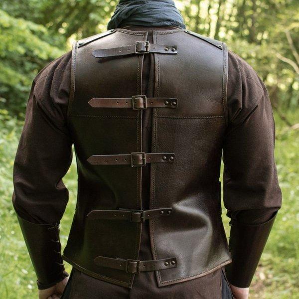 Deepeeka Medeltida brigandin av läder, brun