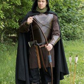 Deepeeka Leder Torso Rüstung mit Kreuz, braun