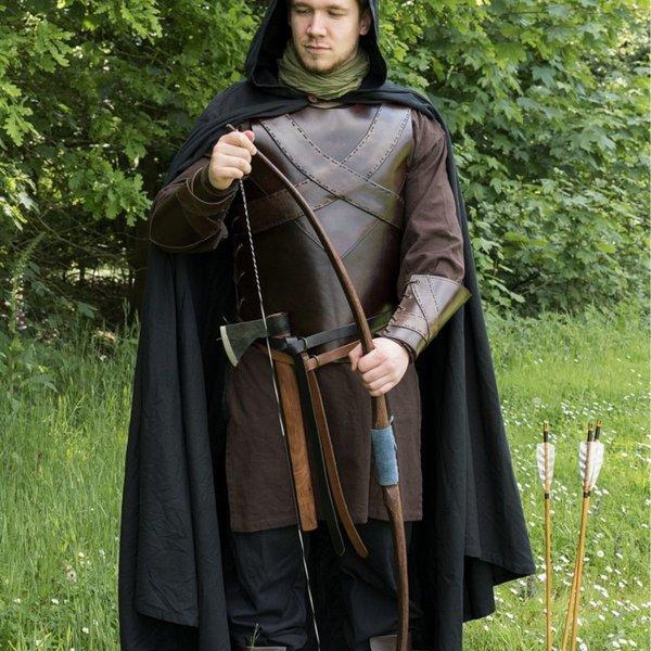 Deepeeka Cuero torso armadura con la cruz, marrón