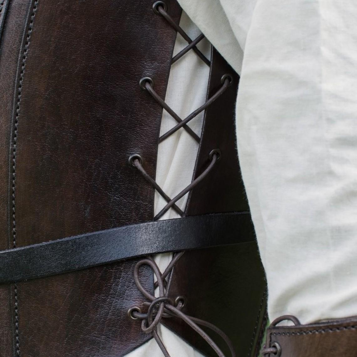 Deepeeka Skóra tułowia pancerza z koronki, brązowy