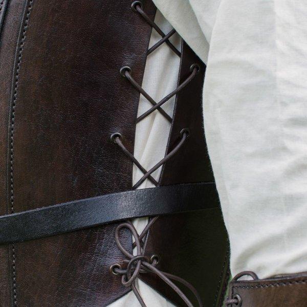 Deepeeka Leder Torso Rüstung mit Schnürung, braun