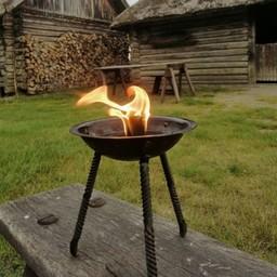 Liten tripod brand skål