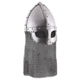 Viking spectacle helmet with chainmail 1,6 mm
