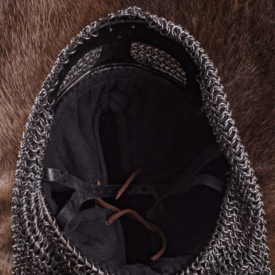 Ulfberth Wikingerbrillenhelm mit Kettenhemd 1,6 mm