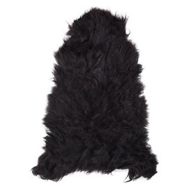 peau de mouton noir scandinave
