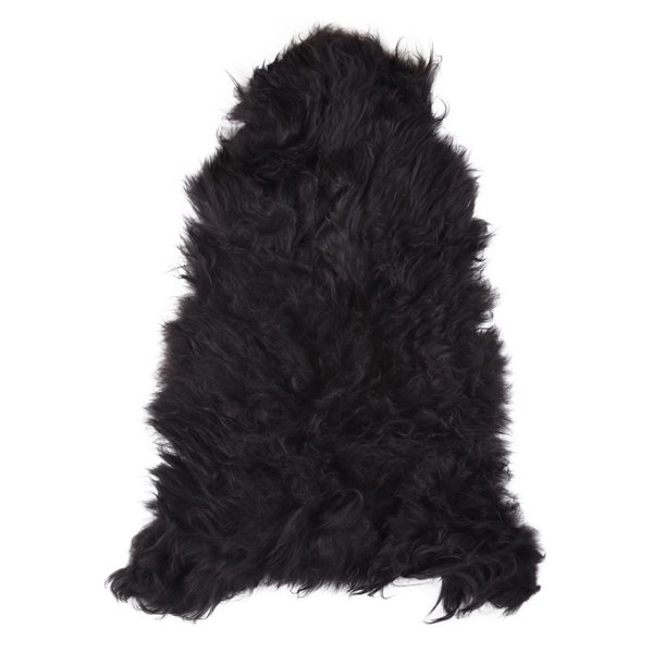 Black Scandinavian fårskinn