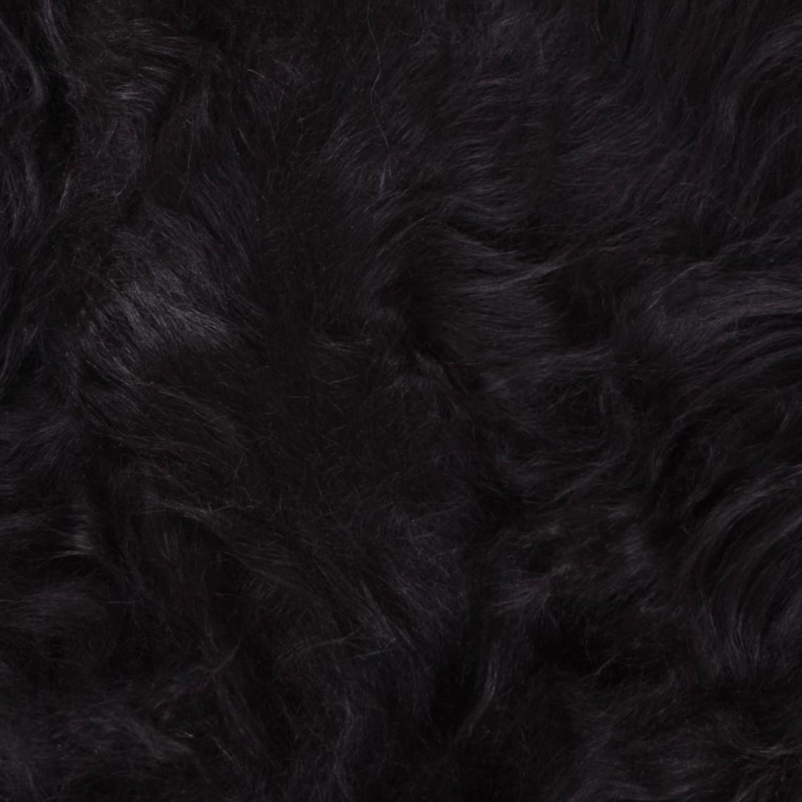Nero pelle di pecora scandinava