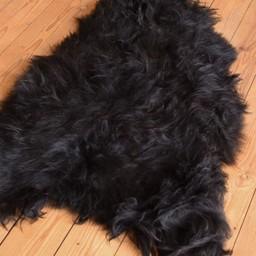 Black Scandinavian sheepskin
