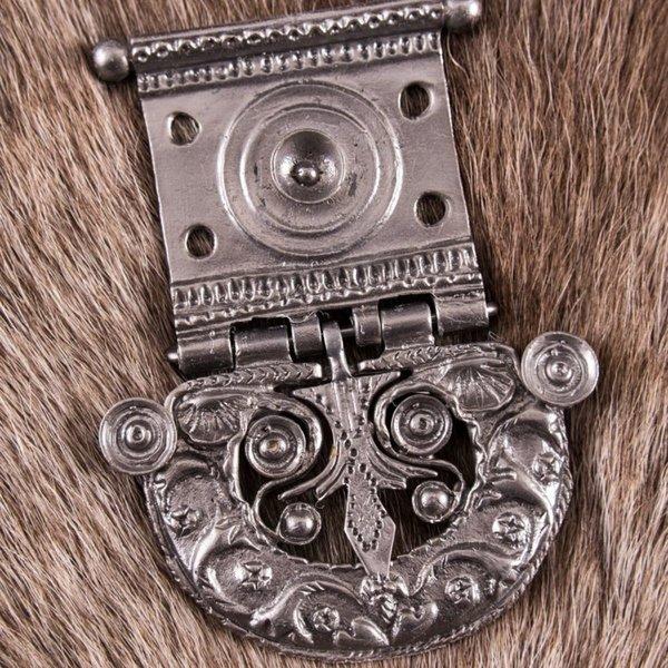 Deepeeka cinturón de hebilla romana Tekija, latón estañado