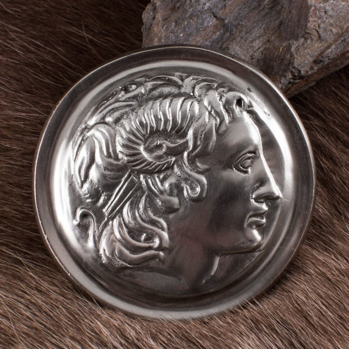 Deepeeka Roman phalera Alexander the Great horns of Ammon