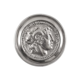Roman phalera Alexander the Great silver color