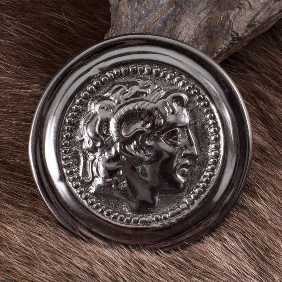 Deepeeka Roman phalera Alexander der Große silberne Farbe