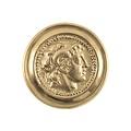 Deepeeka Phalère romain Alexandre le Grand couleur or