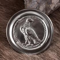 Deepeeka Phalera romana pequeña águila de color plata