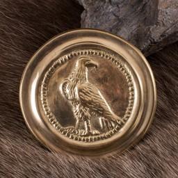 Romeinse phalera kleine adelaar goudkleurig