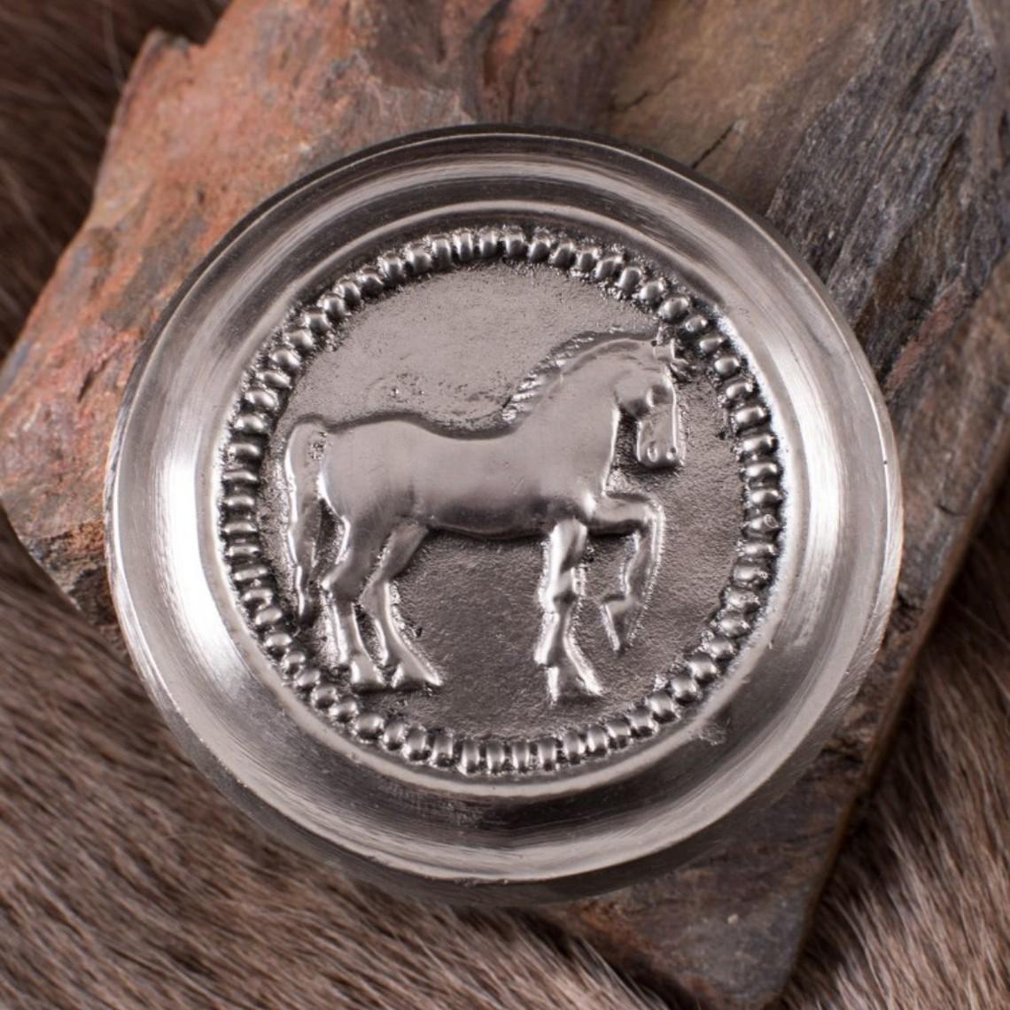 Deepeeka Roman phalera horse silver color