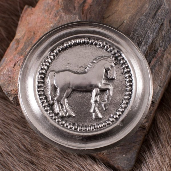 Deepeeka Romersk phalera hest sølv farve